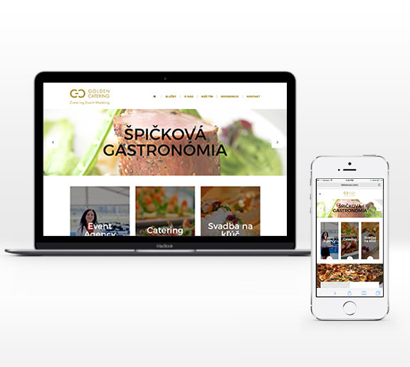 Golden catering web design preview